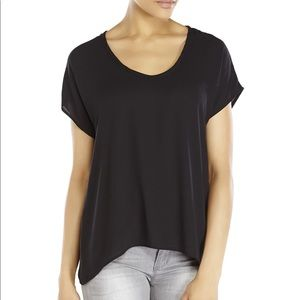 Lush   Scoop Neck Sheer Top Small
